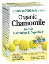 TRADITIONAL MEDICINALS TEAS: Organic Chamomile Tea 16 bags