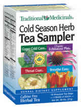 TRADITIONAL MEDICINALS TEAS: Cold Season Sampler 16 bags