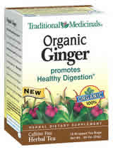 TRADITIONAL MEDICINALS TEAS: Organic Ginger 16 bags