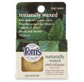 TOM'S OF MAINE: Floss Anti-Plaque Flat Spearment 32 yd