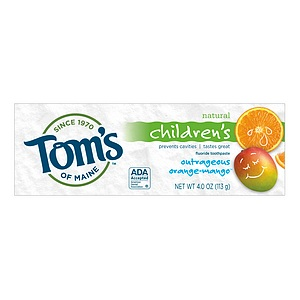 TOM'S OF MAINE: Outrageous Orange Mango Fluoride Childrens Natural Toothpaste 4.2 oz