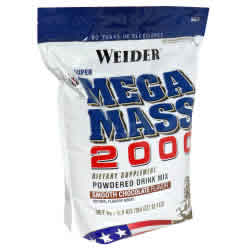 Weider health and fitness: MEGA MASS 2000 CHOC. 12.1LB 12.1 lb