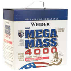 Weider health and fitness: Mega mass 4000 choc. 9.31lb 9.31 lb