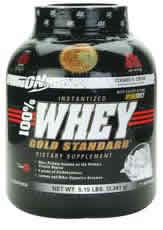 OPTIMUM NUTRITION: 100  WHEY GOLD COOKIE&CRM 5LB 5 lb