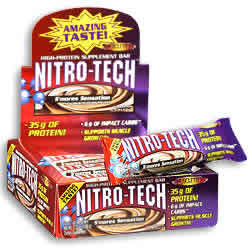 MUSCLETECH: NITRO-TECH BAR PB 12  BX 12 BOX PEANUT BUTTER