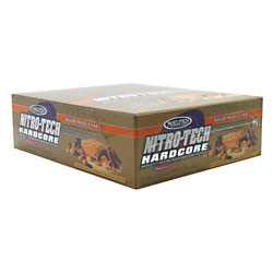 MUSCLETECH: NITRO-TECH BAR HARDCORE CHOCOLATE CARMEL NUT 12 BOX