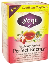 YOGI TEAS/GOLDEN TEMPLE TEA CO: Raspberry Passion Perfect Energy 16 bag