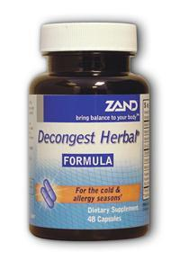 ZAND: Decongest Herbal 48 caps