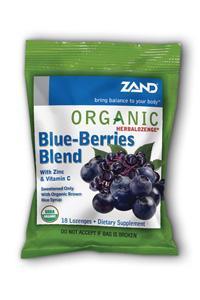 ZAND: HerbaLozenge Organic Blue Berries 18 loz