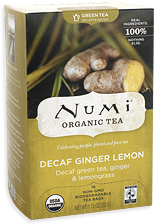 Numi teas: Decaf ginger lemon green tea 18BAGS