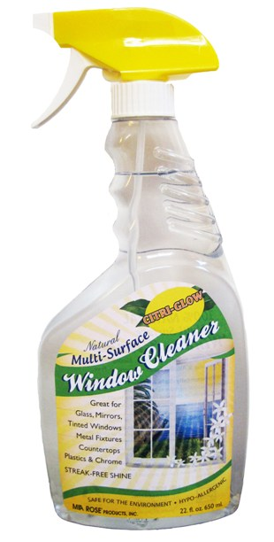 CITRI-GLOW (Mia Rose): 100 Percent Natural Multi-Surface Window Cleaner 22 fl oz