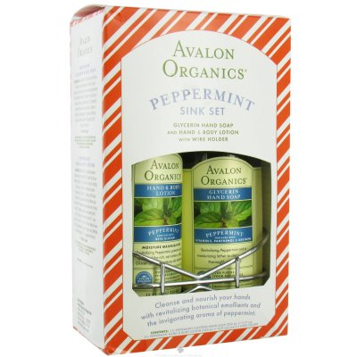 Avalon organic botanicals: Peppermint bath and body sink collection 2 pc