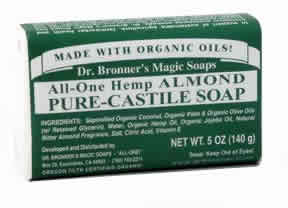 DR. BRONNER'S MAGIC SOAPS: Organic Pure Castile Bar Soap Almond 5 oz