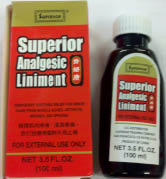 CHINESE IMPORTS: SUPERIOR ANALGESIC LINIMENT 3.5 fl oz
