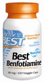 Doctors Best: Best Benfotiamine 80mg 120VC