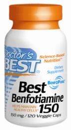 Doctors Best: Best Benfotiamine 150mg 120VC