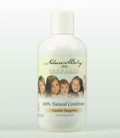 NATURES BABY PRODUCTS: All Natural Conditioner Vanilla Tangerine 8 oz