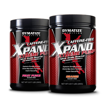 Dymatize: Xpand xtreme caffeine  free orange 14 SERVINGS