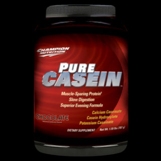 CHAMPION NUTRITION: Pure Casein Vanilla Powder 610 g