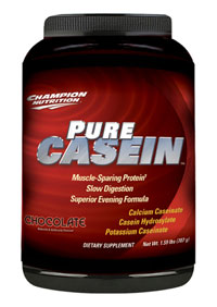 Champion nutrition: Pure casein chocolate powder 707 g