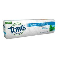 TOM'S OF MAINE: Clean Mint Simply White Toothpaste 4.7 oz 4.7 OZ