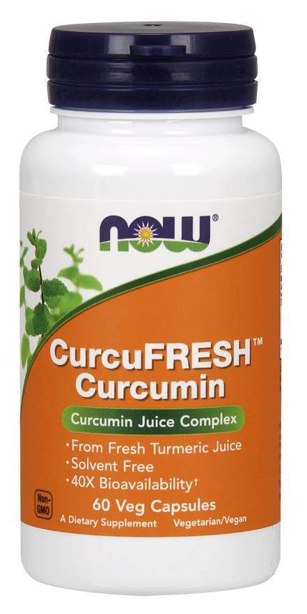 NOW: CurcuFRESH Curcumin Juice Complex 60 Veg Caps