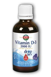 KAL: D-3 DropIns Blueberry 2000iu 6 x