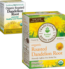 TRADITIONAL MEDICINALS TEAS: Organic Roasted Dandelion Root 16 bags