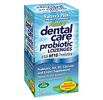 Natures Plus: Adults Dental Care Probiotic Lozenge 60ct Peppermint