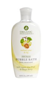 ORGANIC INDULGENCE: Orchard Pear and Fig Bubble Bath 10 oz