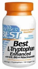 Doctors best: Best l-tryptophan enhanced with  vit. b6 and niacinamide 90 VC