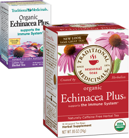TRADITIONAL MEDICINALS TEAS: Organic Echinacea Plus Tea 16 bags