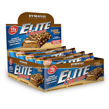 Dymatize: Elite gourmet bar pb 6  box 1