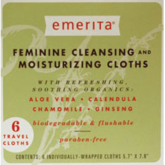 EMERITA: Feminine Cleansing And Moisturizing Cloths 8 pcs