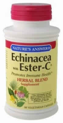 NATURE'S ANSWER: Echinacea With Ester-C 90 vegicaps