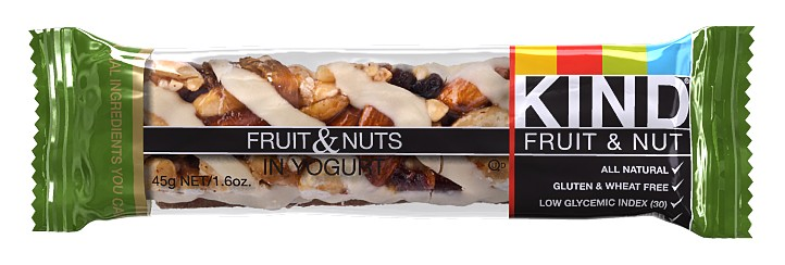 Kind snacks: Kind bar frt and nut with yogurt 12 1