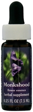 Flower essence: MONKSHOOD DROPPER 0.25OZ
