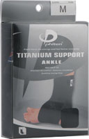 PHI-TEN USA: Titanium Ankle Support Blk Large 1 pc