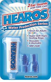HEAROS: Hearos Water Protection Ear Filters With  case 2 pc