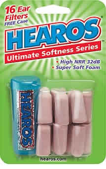 HEAROS: Hearos Ultimate Softness Ear Filters 16 pc
