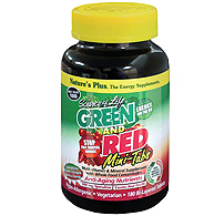 Natures Plus: Source Of Life Green And Red Bi-Layer 180 Mini-Tabs