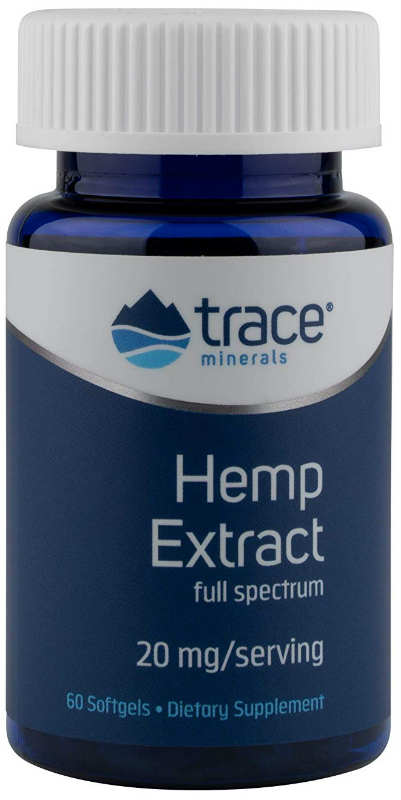 Trace Minerals Research: Hemp Extract 20mg 60 soft gels