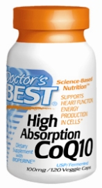 Doctors Best: High Absorption CoQ10 100mg 120 Vcaps