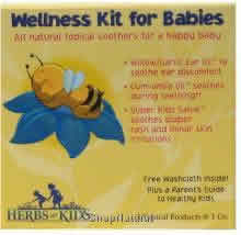 Herbs for kids: Wellness kit for babies (free washcloth and parent's guide) 1oz 3 pc
