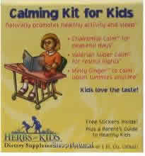 HERBS FOR KIDS: Calming Kit For Kids (  free Stickers and Parent's Guide) 1oz 3 pc