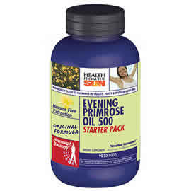 HEALTH FROM THE SUN: Evening Primrose Oil 500mg Hexane Free - Starter Pack 90 softgels