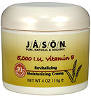 JASON NATURAL PRODUCTS: 5,000 I.U. Vitamin E Revitalizing Moisturizing Creme 70% Organic 4 fl oz
