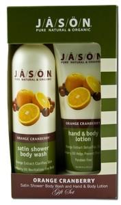 JASON NATURAL PRODUCTS: Orange Cranberry Gift Set 2 pc