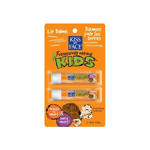 KISS MY FACE: Lip Balm Duo Pack Orange and Berry .15 oz