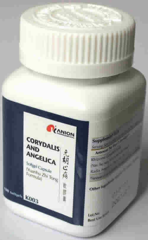 Honso usa: Corydalis and Angelica (Yuan Hu Formula) 100sg
